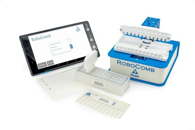 Biogal's RoboComb is a user friendly, add-on technology that automatically develops Biogal's VacciCheck and ImmunoComb. RoboComb makes this development simple, faster, automated and more accurate. (PRNewsfoto/Biogal Galed Labs)