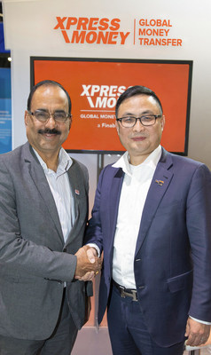 Sudhesh Giriyan, CEO, Xpress Money along with Raymond Qu, CEO and Founder of Geoswift