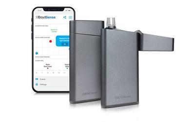 El g-Sense Breath Meter, primer producto en desarrollo de BOYDSense, es un dispositivo de mano asequible diseñado para predecir con precisión los valores de glucosa en sangre midiendo los compuestos orgánicos volátiles en el aliento humano.