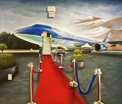 Air Force One artwork in our America the Beautiful themed vacation home.