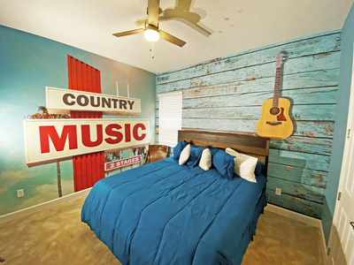 Country Music Room located in our Music City themed vacation home.