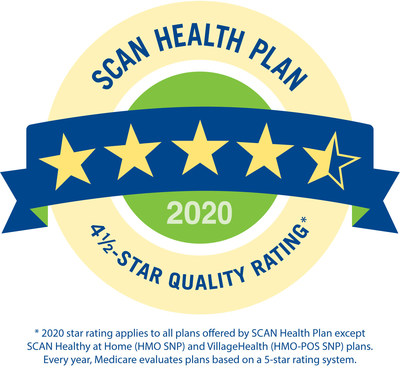 The Centers for Medicare and Medicaid Services (CMS) awards SCAN Health Plan with a 4.5-star rating for the third consecutive year.