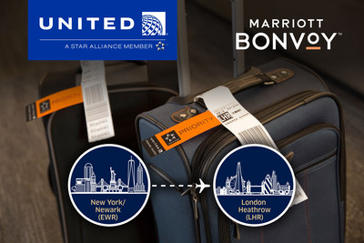 United Airlines will begin offering Polaris customers on flights between New York/Newark and London Heathrow complimentary baggage delivery exclusively to five Marriott International properties.