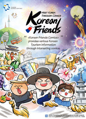MARU Changjakso Inc., a Korea Tourism Organization certified Tourism Business Venture, launches webcomics 'Korean Friends'