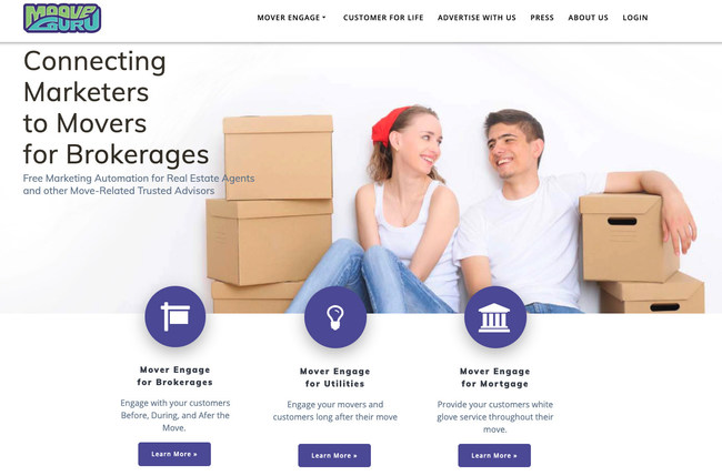 Using just-in-time delivery through artificial intelligence algorithms, MooveGuru Inc. ensures consumers receive agent-branded savings from national and local retailers as they step through the relocation process. Today, more than 300 brokerages, their agents, and clients are connected to the MooveGuru platform. Discover more at mooveguru.com.