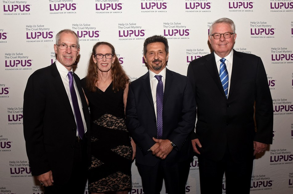 2019 Lupus Foundation of America Evening of Hope honorees: (L-R) Conrad and Jody Gehrmann; Ron Rocca, president and CEO, Exagen Inc.; Tom Kingsbury, Executive Chairman of the Board, Burlington Stores, Inc.