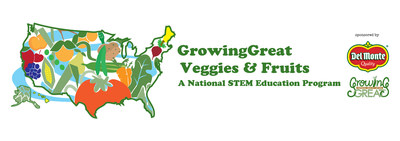 GrowingGreat Veggies & Fruits. A National STEM Education Program. Sponsored by Del Monte Foods and GrowingGreat. (PRNewsfoto/Del Monte Foods)
