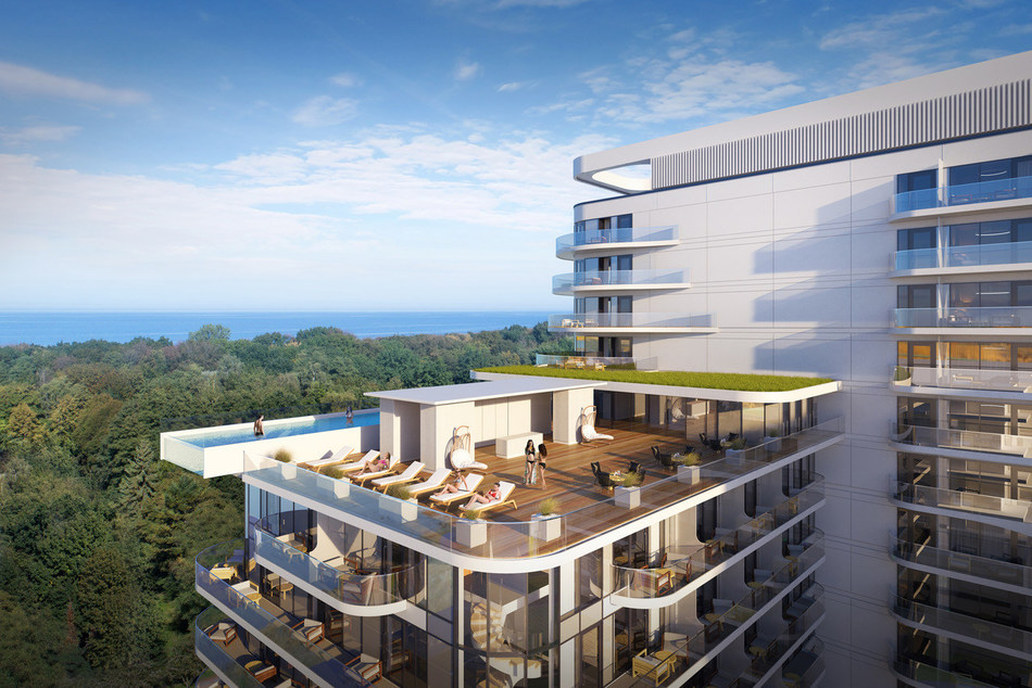 Visualisation – view of the terrace and infinity pool of Hotel Baltic Wave. (PRNewsfoto/Baltic Wave Sp. z o.o.)