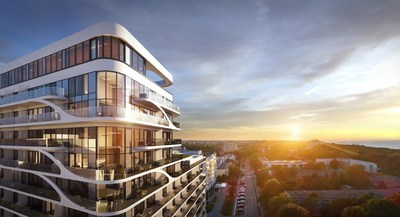 Visualisation – Hotel Baltic Wave, view of the luxurious 2-storeys apartments. (PRNewsfoto/Baltic Wave Sp. z o.o.)
