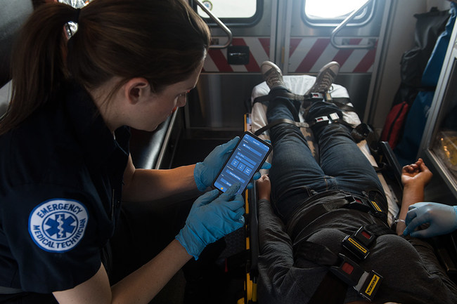 A Paramedic can now take advantage of a Samsung 5G enabled mobile device connected to the IBM Cloud platform to get vital stats for on other first responders in distress.