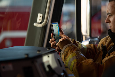Built on the IBM Cloud, the new platform created in partnership with Samsung will now allow firefighters and other first responders to track first responders' vitals, including heart rate and physical activity, to determine if that person is in distress and automatically dispatch help.  (Photo attribution to Samsung Electronics Co., Ltd)