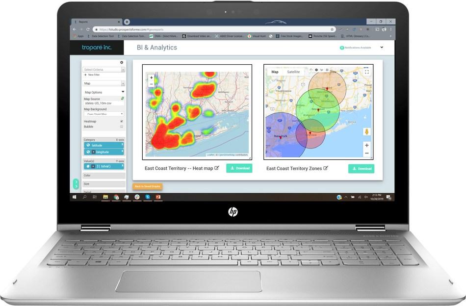 Troparé Geo Analytics Interface