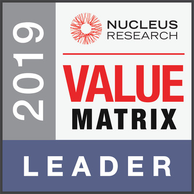 Nucleus Research Control Tower Value Matrix 2019 (CNW Group/Kinaxis Inc.)