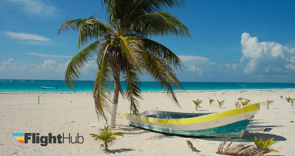 Beach with a Boat, FlightHub (CNW Group/FlightHub)