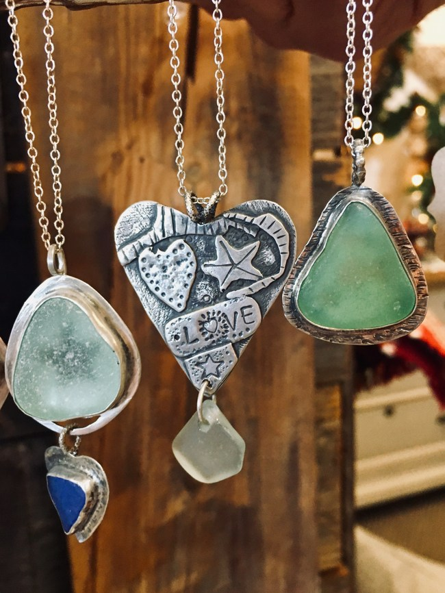 The handcrafted Sweet & Salty line of jewelry, featured at Junque Love in Morro Bay, offers locally made, one-of-a-kind wearable art created from treasures from the sea.