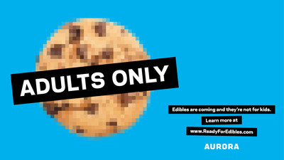 National Safety Campaign - Cookie (CNW Group/Aurora Cannabis Inc.)