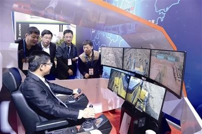 The 5G smart remote-controlled machine demonstrated by Shandong Heavy Industry Group