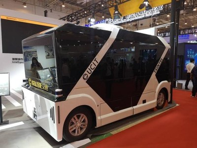 The driverless commercial vehicles showcased by UCIT.