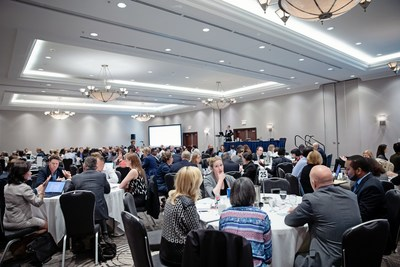 Over 200 representatives from pharmaceutical companies and hospital leadership gather at HealthPRO's Transforming Together event to celebrate patient safety successes and tackle a complex, global issue - drug shortages. (CNW Group/HealthPRO Procurement Services Inc.)