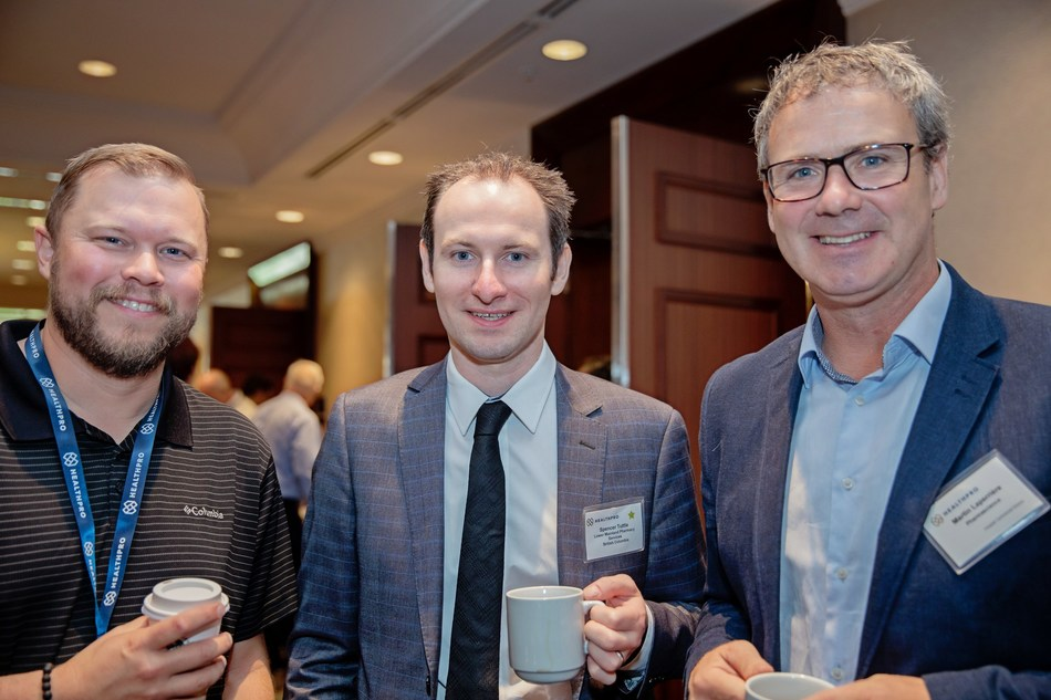 Centre: Spencer Tuttle, Director, Lower Mainland Pharmacy Services and Chair of HealthPRO's Pharmacy Advisory Council Strategic Committee at the Transforming Together event on September 17, 2019. (CNW Group/HealthPRO Procurement Services Inc.)