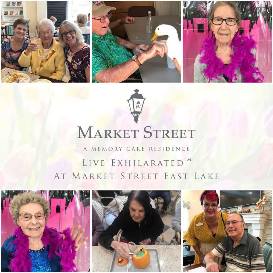 Residents of Market Street Memory Care Residence East Lake are exploring their passions and interests by engaging in Watercrest Senior Living's newly implemented Live Exhilarated program, which focuses on personal wholeness.