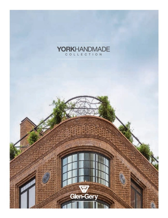 Glen-Gery, the nation's trusted source for authentic handmade brick solutions, reintroduces its York Handmade brick collection with the publication of its newest product brochure, now available to architects, builders, contractors and homeowners.