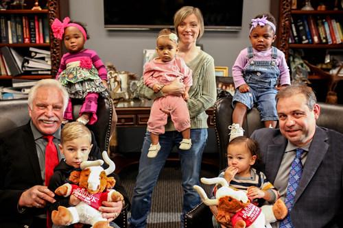 Bradley A. Pistotnik, Andrea Dixon and Tony L. Atterbury with FaithBuilder Kids.