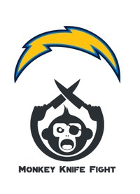 Monkey Knife Fight - Los Angeles Chargers logo
