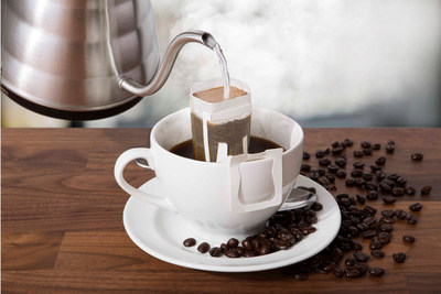 NuZee single serve pour over coffee, the better tasting, more environmentally conscious single serve coffee option.
