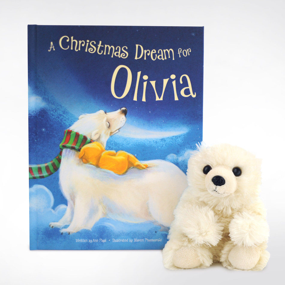 A Christmas Dream for Me Personalized Storybook and Polar Bear Gift Set from I See Me!