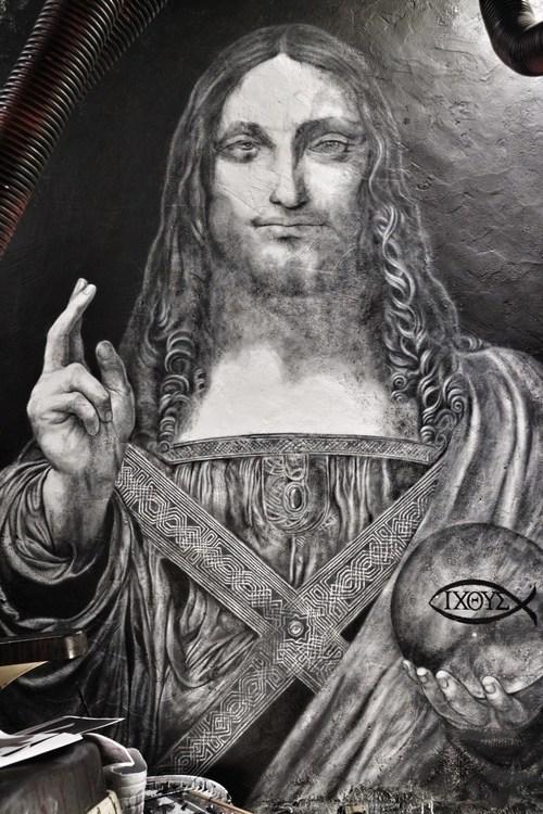 Salvator Mundi ©2019 thierry Ehrmann - courtesy of Organ Museum / Abode of Chaos