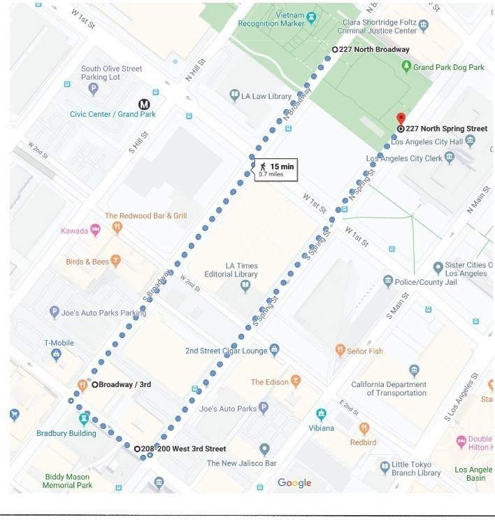 Nov. 1 march route map