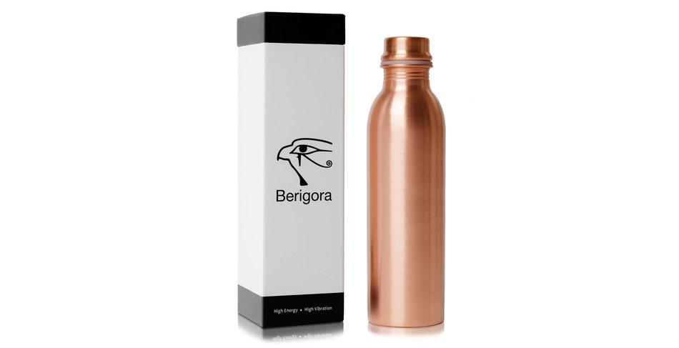 Berigora's pure copper water bottle - Available on Amazon.com. (CNW Group/Berigora)