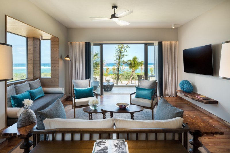 Anantara Iko Mauritius Resort Ocean View Suite Living Room