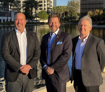 Caption: TACenergy leadership gather to welcome new West Coast associates. Names Left to Right: Mitch Lewis, General Manager of Sales, Southwest, Fred Sloan, Chief Operating Officer, Randy Jones, Vice President of Sales and Operations