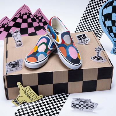 Artist Geoff McFetridge Custom hand painted Vans Slip-On