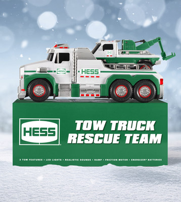 2019 Hess Toy Tow Truck Rescue Team Battery Included