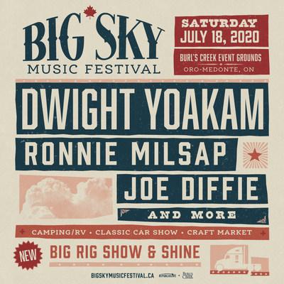 Big Sky Music Festival announces Dwight Yoakam, Ronnie Milsap Joe Diffie and more. (CNW Group/Big Sky Music Festival)