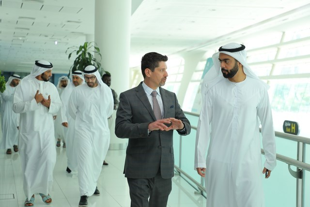 Medical Tourism Association Co-Founder Jonathan Edelheit speaks with H.E. Saif Saeed Ghobash, Undersecretary of the Department of Culture and Tourism - Abu Dhabi, during the 12th Annual World Medical Tourism & Global Healthcare Congress. After hosting the Congress in the United States for 11 years, the MTA moved its flagship event to Abu Dhabi in 2019.