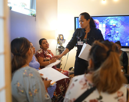 Expectant mothers participate in CenteringPregnancy at the Family Health Centers at NYU Langone in Brooklyn.