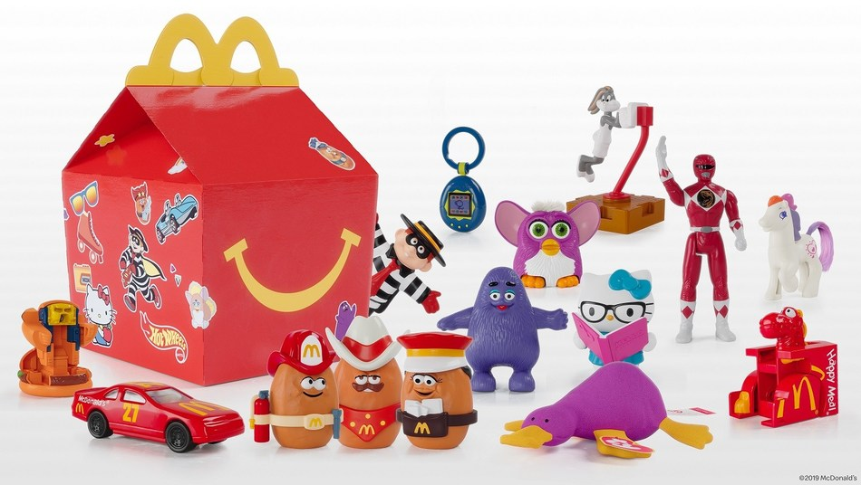 McDonald's announces the limited-time Surprise Happy Meal featuring iconic toys from the last 40 years to celebrate the 40th anniversary of the Happy Meal. The throwback toys will be available from November 7 to November 10 at participating restaurants in Canada, while supplies last. (CNW Group/McDonald's Canada)