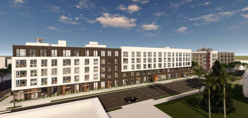 Rendering of the apartment development in downtown Sacramento