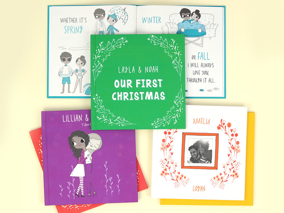 Book of Us™ is a personalized gift for loved ones with multiple book cover and theme color options.