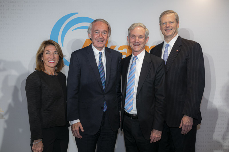 Akamai Technologies, Inc. (NASDAQ: AKAM), the intelligent edge platform for securing and delivering digital experiences, celebrated the opening of its new global headquarters in Kendall Square, Cambridge, MA. The ribbon-cutting ceremony featured Lt. Governor Karyn Polito, Senator Edward Markey, Dr. Tom Leighton, co-founder and chief executive officer of Akamai, and Governor Charlie Baker. The 19-story building is home to 1,800 employees.