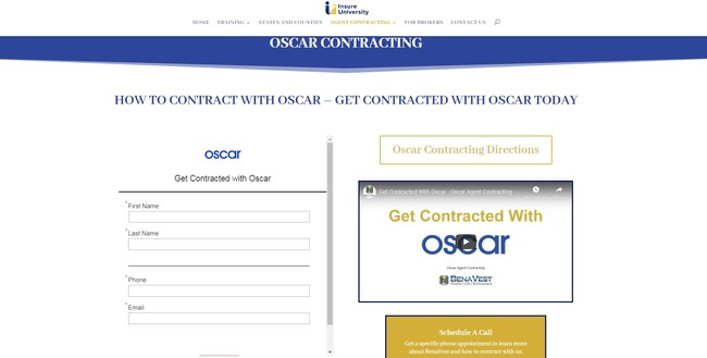 Agent Contracting, Broker Contracting to get appointed with Oscar health