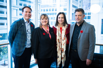 From Left to right: Alan Depencier, Chief Marketing Officer, RBC, Dr. Isabelle Bajeux-Besnainou, Dean of the Desautels Faculty of Management of McGill University, Nadine Renaud-Tinker, President, Quebec Headquarters, RBC, Nicolas Van Praet, Montreal Correspondent, The Globe and Mail (CNW Group/RBC ROYAL BANK)
