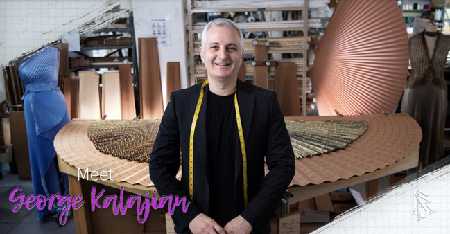 Scientologist George Kalajian, the trend-setting expert on the art of pleating garments.