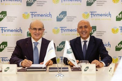 Gilbert Ghostine, CEO Firmenich, Aslan Gülçiçek, CEO MG International Fragrance Company