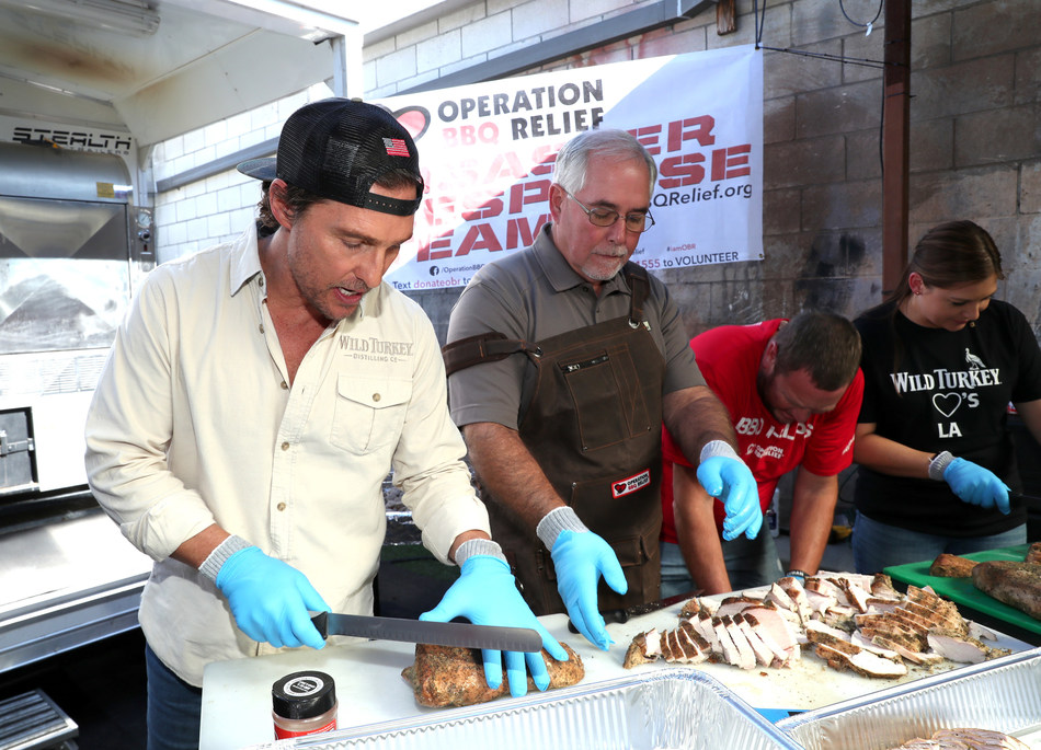 """Wild Turkey """"With Thanks"""" 2019 with Matthew McConaughey and Operation BBQ Relief Photo credits: Rich Polk/Getty Images for Wild Turkey"""