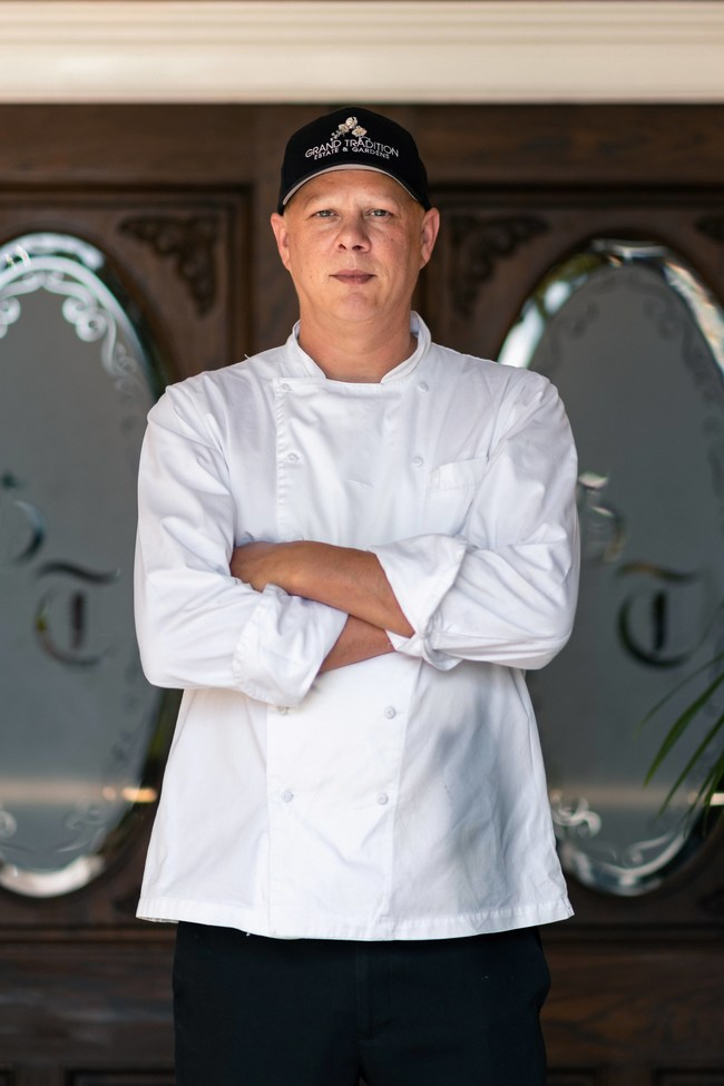Bringing his 25 years of culinary experience to Southern California's premier wedding venue, Grand Tradition Estate & Gardens.